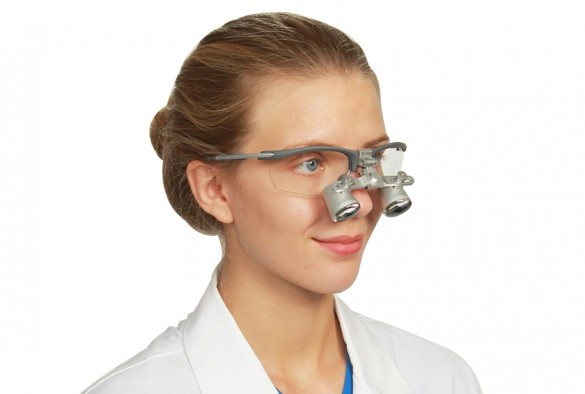 Expanded Field Dental Loupes  Fusion Flip-Up 2.5x