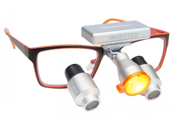 High Power Prismatic Dental Surgical Loupes and Headlight TTL 5.5x