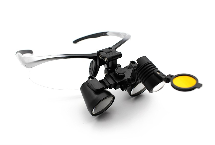 Flip-Up Dental Surgical Hygiene Loupes and Headlight Combo 2.0x-3.5x, Save $100