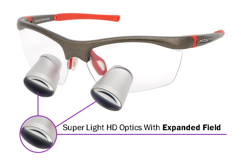 Expanded Field Dental Surgical TTL Loupes Fusion 2.5x