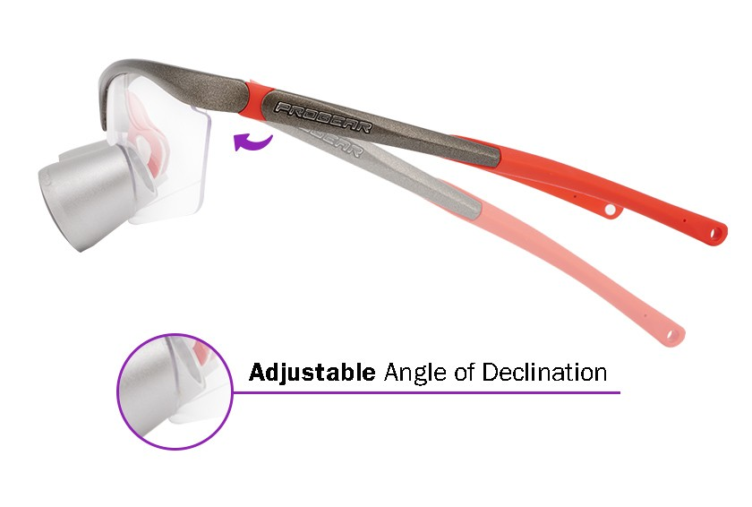 Expanded Field Dental Surgical TTL Loupes and Headlight  3.0x