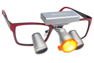 Expanded Field Dental Surgical TTL Loupes and Headlight  2.5x