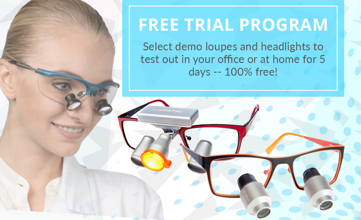 Home Try-on Program - Dental Loupes and Headlights